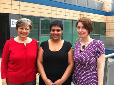 Julie Brinton, Devyanee Bele and Helen Cullington