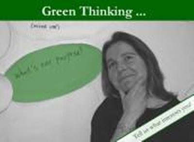 Green thinking card
