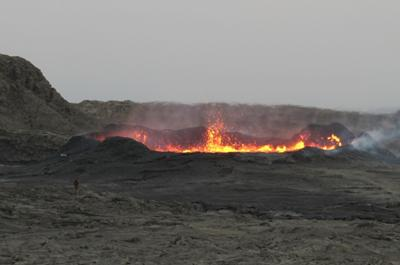 November 2010 eruption of Erta Ale volcano in Afar