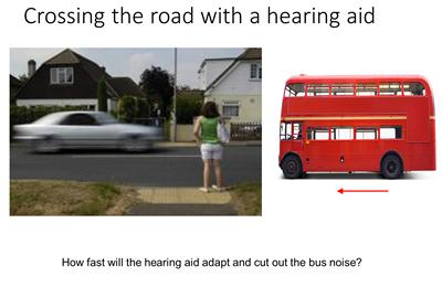 How fast will the hearing aid adapt and cut out the bus noise