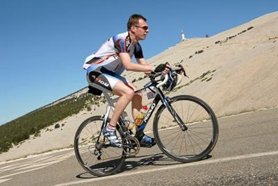 Climbing the upper slopes of Mont Ventoux