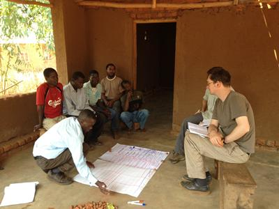 Working with partners in Malawi.