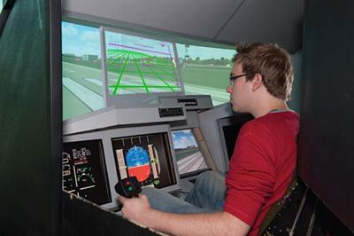 Students can test their designs using our flight simulator