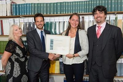 Head of the Southampton Law School Prof. Hazel Biggs, Mark Russell, Thea Thorstensen and IML Director Filippo Lorenzon.