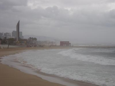 Storm conditions in Barcelona