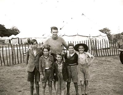 Child refugees at the camp in Eastleigh, Hampshire