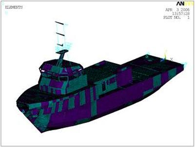 FEA analysis of ship structure