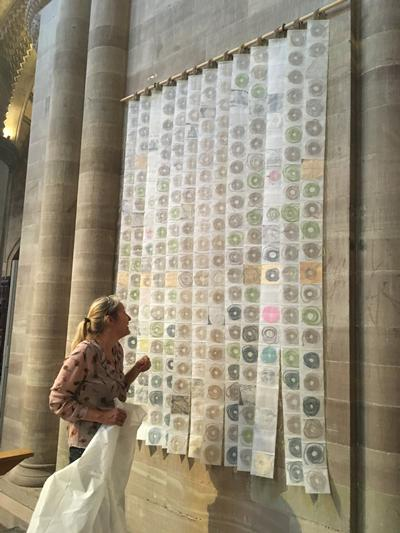 Creative installation on display