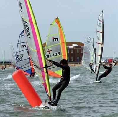 Windsurfing at Calshott