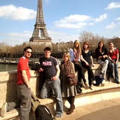 Dr Joan Tumblety (third from left) with Year 3 students from her course on 'Defeat, Occupation and National Memory in France' in Paris, March 2009
