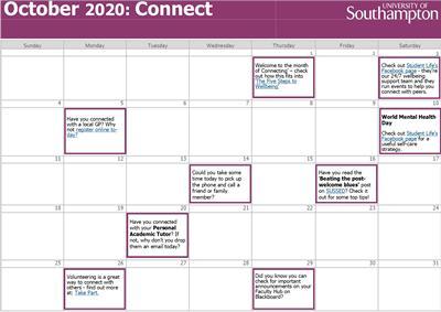 A wellbeing calendar for October
