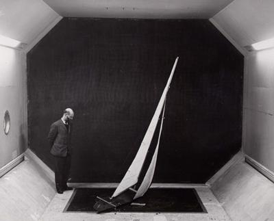 Early research in the 15' x 12' section of our 7' x 5' wind tunnel