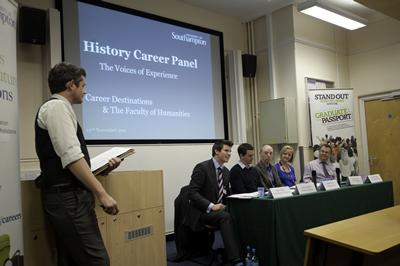 Humanities host careers panels regularly for all students