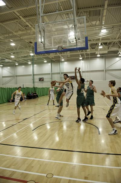 Our eight-court sports hall is the only hall in the region suitable for international basketball matches