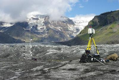 Measuring aerodynamic and surface roughness at Svinafell Glacier, Iceland, July 2011
