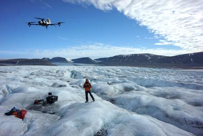 flying autonomous system over the ice