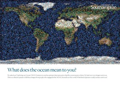 Sent in by people engaged in the MOOC in response to the question 'What does the Ocean mean to you?'