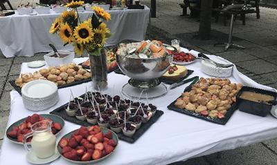 Food produced by our amazing catering team for the farewell BBQ