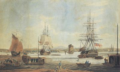 William John Huggins, 'Whampoa in China' (1835), Peabody Essex Museum