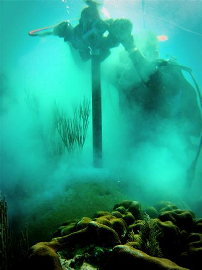 Coral Drilling (Source: K Castillo)