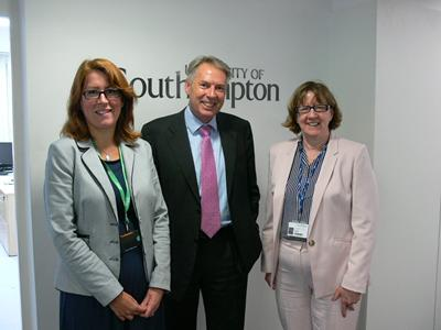 Professor Claire Foster, Vice-Chancellor Don Nutbeam and Doris Howell