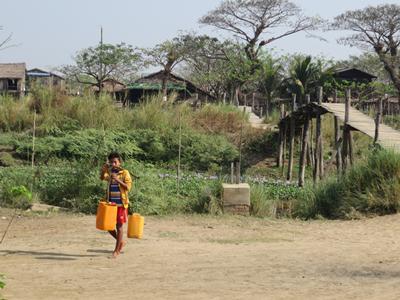 Domestic use of water at Moeyugyi Wetland