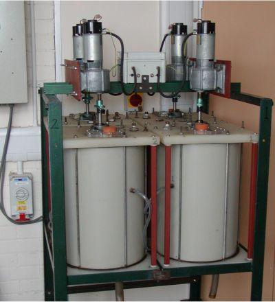 40-litre reactors for kinetic studies at different particle sizes