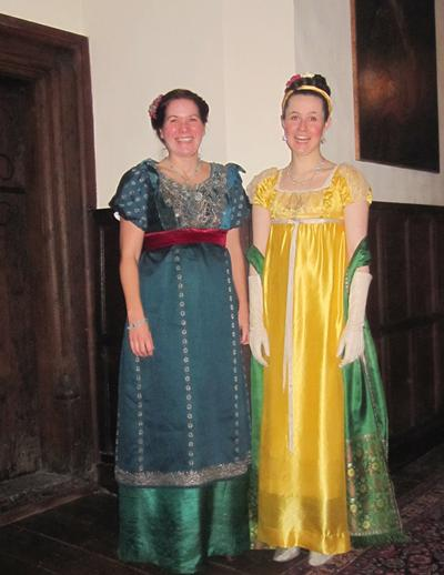 Southampton staff and students in costume at Chawton House