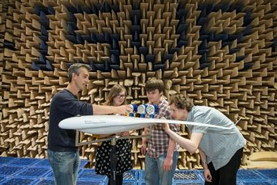 Large anechoic chamber, Institute of Sound and Vibration Research, University of Southampton