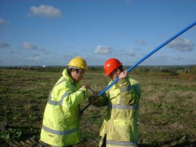 Investigating a leachate well on site