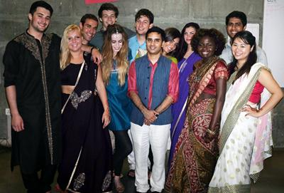 Students got to support real social ventures in India