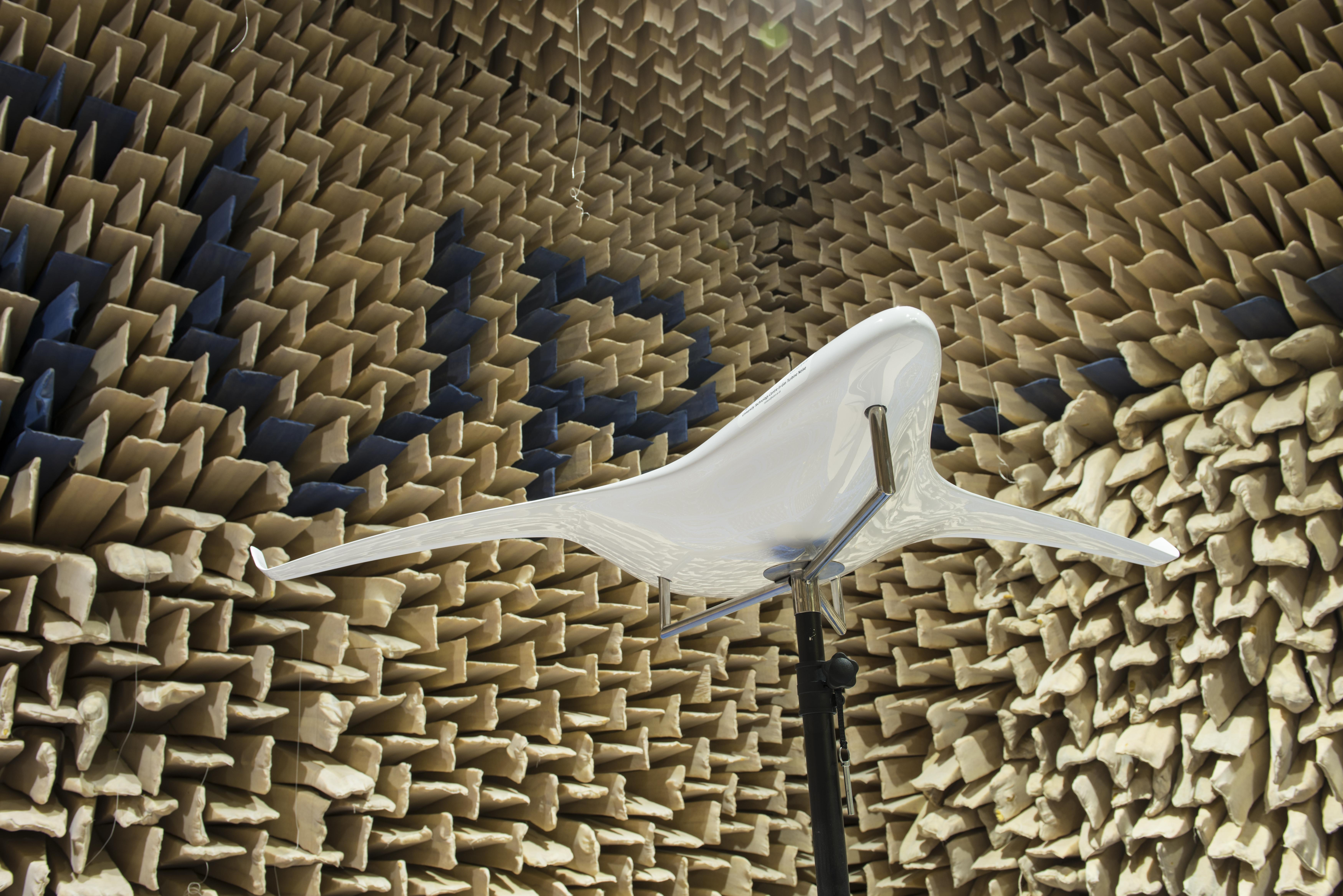 Testing a Rolls-Royce group design project in our anechoic chamber
