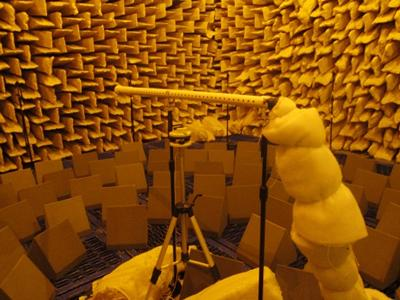 Measurement of the directive warning sound system in the ISVR anechoic chamber.