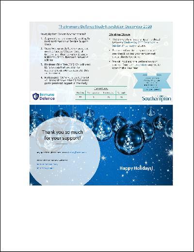 ID Study December 2020 News Letter