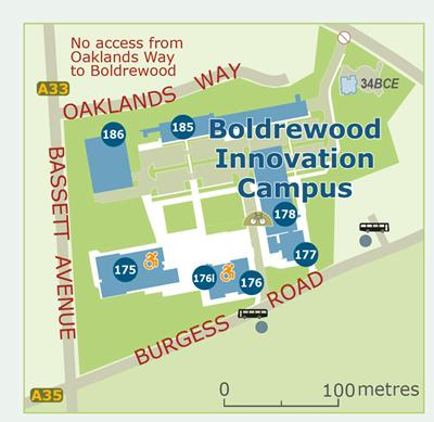 Map of Boldrewood campus