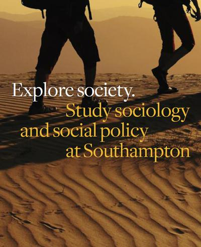 Our pathways in sociology and social policy have recently been recognised by the ESRC as part of the Southampton Doctoral Training Centre in the Social Sciences