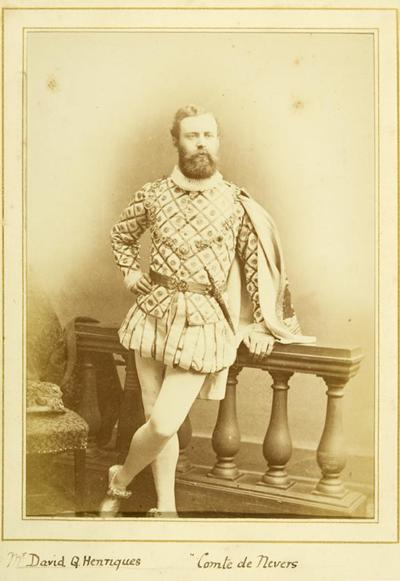 David Q. Henriques in costume