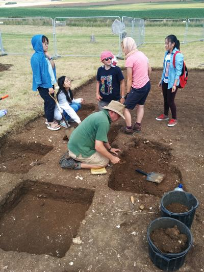 Archaeological digging in Avebury
