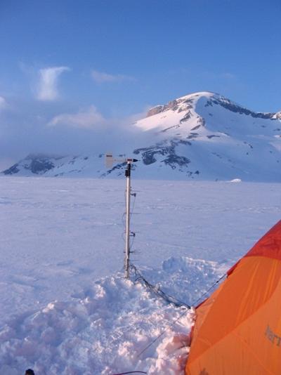 Field experiment at Plaine Morte glacier Switzerland