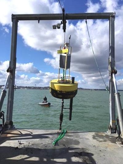 Deploying a data buoy