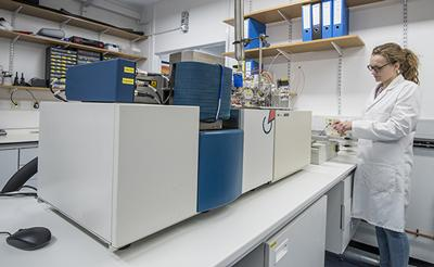 GV Instruments dual-Inlet isotope ratio mass spectrometer (DI-IRMS)