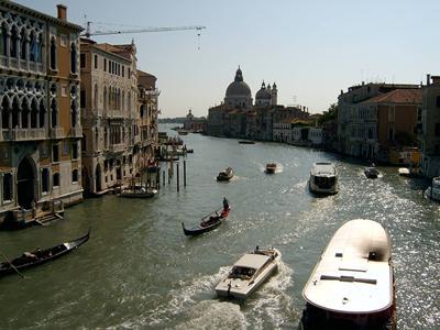Sun shining in Grand Canal, Venice
