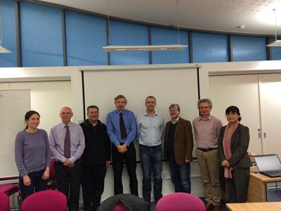 From left to right: Alison Thompson; Peter Stevenson; Suleiman Sharkh; Paul Jennings; Andy Cruden; Peter Hall; David Infield; Jihong Wang