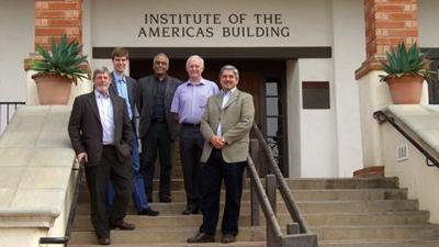 Staff from Southampton visiting the Institute of the Americas in San Diego, California