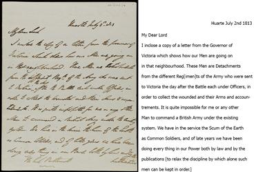 Letter from Wellington to Bathurst