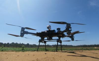 Remote sensing technology used includes infrared imaging and UAVs