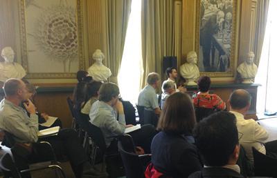 Image of audience at the Royal Society