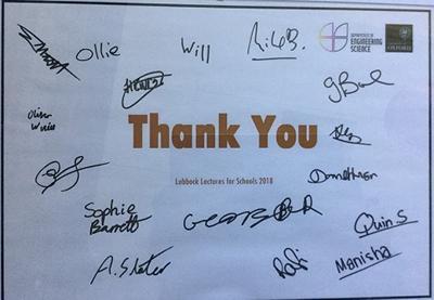 Thank you note to Prof Leighton