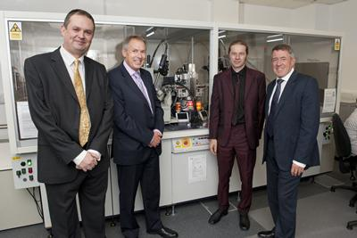 Phil Gale, Don Nutbeam, Simon Coles and John Denham MP at the launch