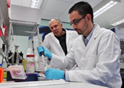 Dr. Diego Gomez-Nicola, (foreground)